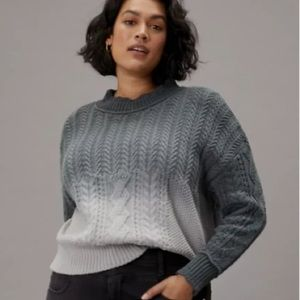 Anthropologie Marci Dip-Dyed Cable-Knit Sweater